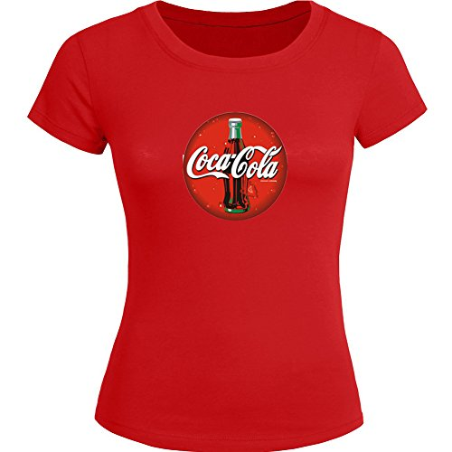 [Coca Cola For Ladies Womens T-shirt Tee Outlet] (Coca Cola Dress)
