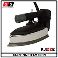KAZZE BY SILVER STAR STEAM Stainless Steel 96 Heavy 1200W Electeric Steam Iron with 4 L Tank (Black and Silver)
