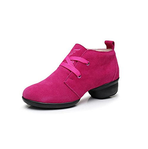 Shoes Color Office Shoes Suede 41 Comfort Shoes Sneakers B Size Driving Shoes Modern Lace Spring Fall Toe Women's Lightweight Dance up Rounded A XUE q7px44