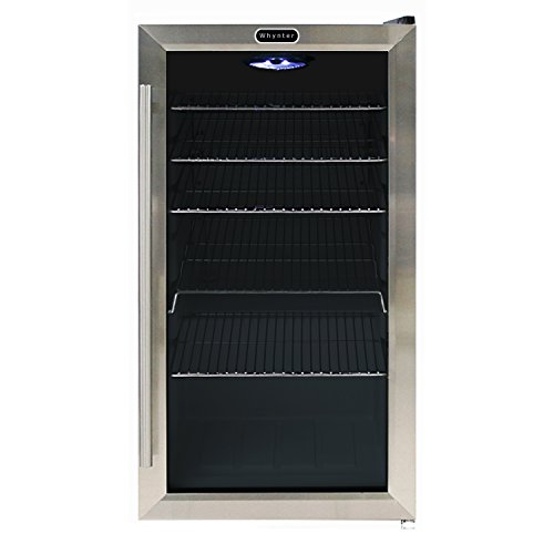 Whynter BR-130SB Beverage Refrigerator with Internal Fan, Black/Stainless Steel by Whynter