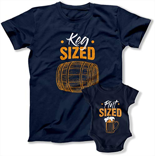 Christmas Pajama Shirts Keg Size Pint Size Matching Outfits New Dad Beer Gifts for Father Gifts TEP-207-205 (Toddler - 2T, Baby - Pint Size)