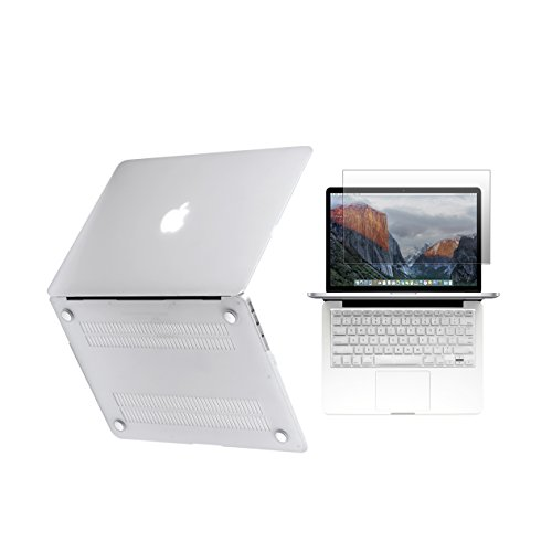 Unik Case - Ultra Slim Light Weight Hard Case Cover, Matching Color Keyboard Cover, Screen protector for Macbook Pro 15