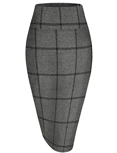 HyBrid & Company Womens Pencil Skirt for Office Wear KSK43584 112030 CHABLK L