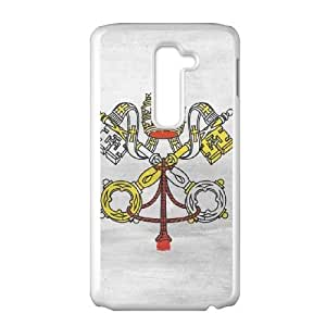 LG G2 Cell Phone Case White Vatican City Flag Distressed JSK671424