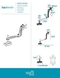 VARIDESK - Monitor Arm - Full-Motion Spring Single - Monitor Arm