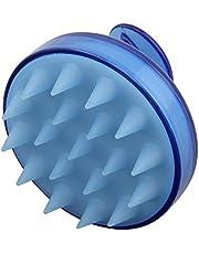 Borstel voor hoofdmassage, massageborstel, van siliconen, zacht, verzorgt de hoofdhuid en het haar, doucheverzorging, cellulitis massageapparaat, 1 stuk