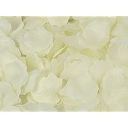 123Zero Artificial Silk Rose Flower Petals (2000 Pcs for Party and Wedding Bridal Decoration (Ivory)
