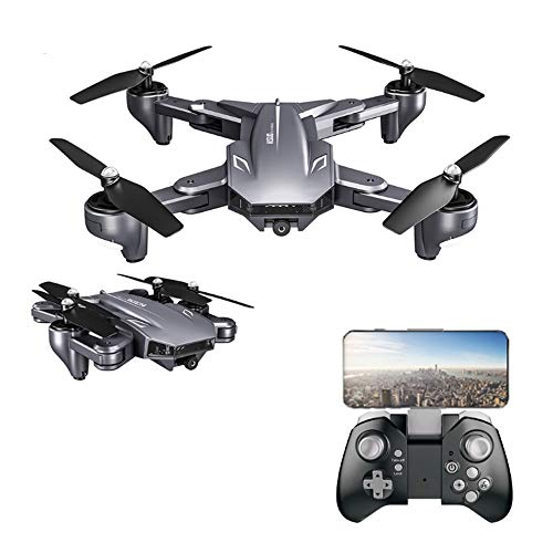WHWYY Drones with Dual Camera FPV 4K HD WiFi Camera Drone RC Quadcopters for Beginners & Kids/Adults with Altitude Hold Follow Me Mode Headless Mode Gesture Control 3D Flips One Key Take Off/Landing