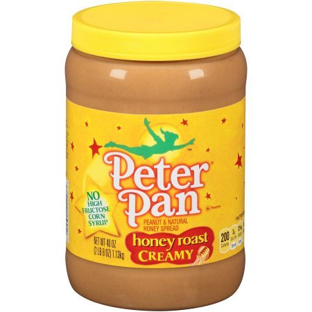 Peter Pan Honey Roast Creamy Peanut and Natural Honey Spread, 40-Ounce (Pack of 2)