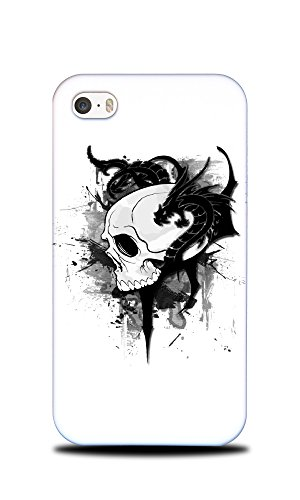 Foxercases Design Tattoo Skull With Dragons Hard Back Case Cover for Apple iPhone 4/4S (667 Hipster)