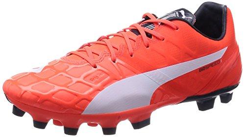 Puma evoSPEED 1.4 AG - zapatillas de fútbol de material sintético hombre naranja - Orange (lava blast-white-total eclipse 01)