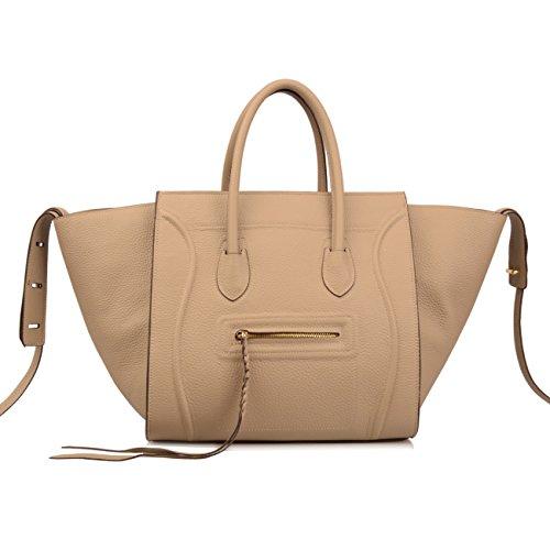 Jual Ainifeel Women s Genuine Leather Bat Oversize Tote Bag Purse ... 11b3a27031cdf