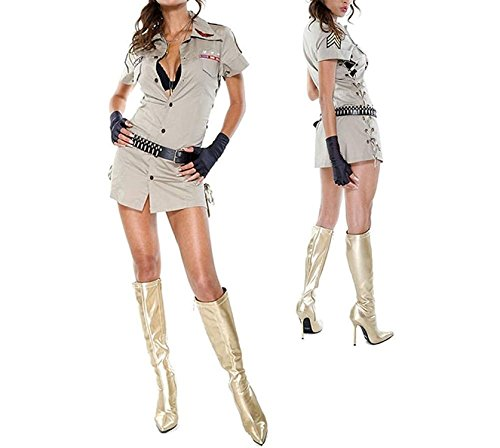 Garyline Sexy Militant Costume - Medium/Large (6-9) as (The 9th Doctor Costume)