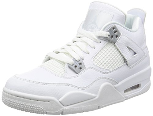Jordan Big Kids Air Jordan IV Retro GS white metallic silver-off white Size 6.0 US by Jordan