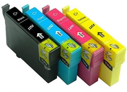 Para Epson t1251 t1252 t1253 t1254 cartucho de tinta para Epson ...