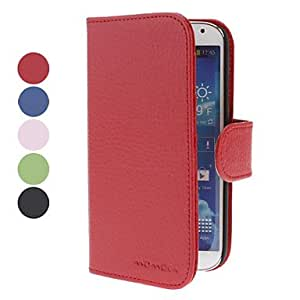 Elegant Design PU Leather Full Body Case with Card Slot for Samsung Galaxy S4 I9500 (Assorted Colors) --- COLOR:Blue