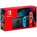 Nintendo Switch with neon red and neon blue Joy‑Con - Version 2-HAC-001(-01)
