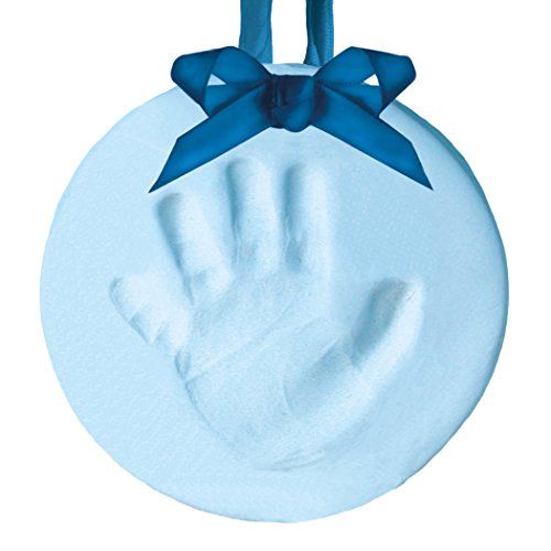 Pearhead Babyprints Handprint or Footprint Holiday Keepsake Ornament, Blue