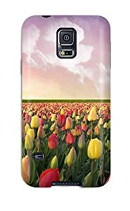 NikRun Case Cover Protector Specially Made For Galaxy S5 Tulip Fields In Netherlands