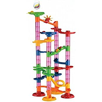 Maggift Marble Runs Toy Set Translucent Marbulous 80 Pieces