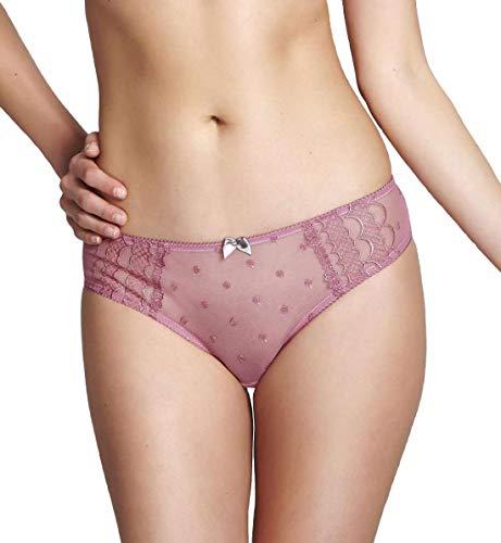 Cleo by Panache Marcie Brazilian Brief Panty (6837) M/Dusty Rose ()