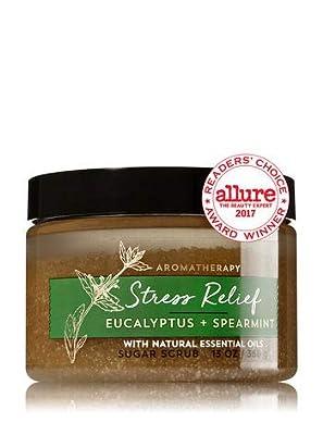 Bath & Body Works AROMATHERAPY Stress Relief Eucalyptus Spearmint Sugar Scrub 13 Fl Oz
