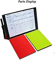 Soccer Referee Warning Card Set Sports Match Red Yellow Card with Booklet