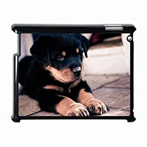 Customized Back Cover Case For iPad 2 3 4 Hardshell Case, Black Back Cover Design Dog Personalized Unique Case For iPad 2