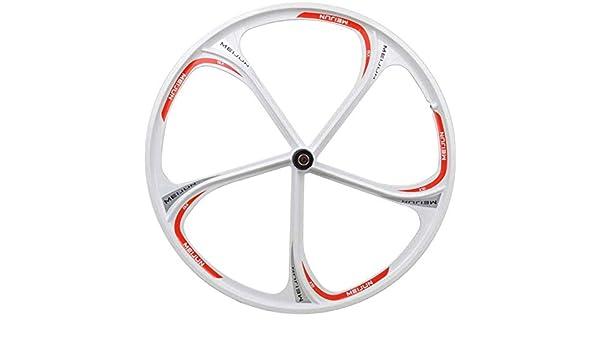 Knoijijuo 26 Pulgadas de la Bicicleta de Frenos de la Rueda Delantera Volver Rueda MTB aleación de magnesio Borde Palin Campamento Rapid Release Disco Pista 8 9 10 Velocidad,Rearwhite: Amazon.es: Hogar