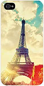 Eiffel Tower For HTC One M7 Phone Case Cover Universal- Hard White Plastic