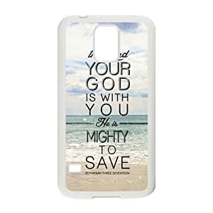 Bible Verse Rubber Back Fits Cover Case for Samsung Galaxy S5 by lolosakes