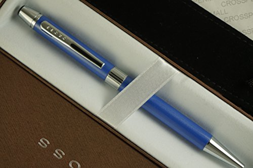 (Cross Executive Companion Gilford, Silhouette of Century Classic, Midnight Royal Violet Blue with Cross Signature Mid Bands and Polished Appointments Medium Ballpoint Pen and Protective Velvet Pouch)