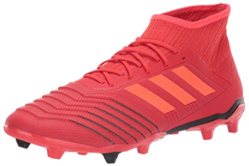 adidas Men's Predator 19.2 Firm Ground, Active Solar red/Black, 8 M US