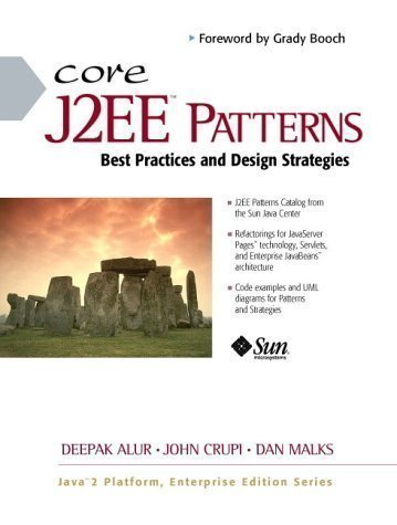 Core J2EE Patterns (Sun Microsystems Press) 1st (first) Edition by Alur, Deepak, Crupi, John, Malks, Dan published by Prentice Hall (2001)