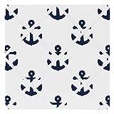 Sweet Jojo Designs Navy White Anchors Fabric Memory