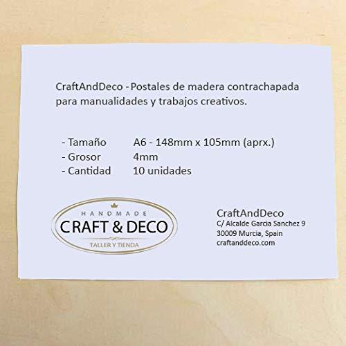 Pack de 10 postales manualidades Postales de madera para personalizar