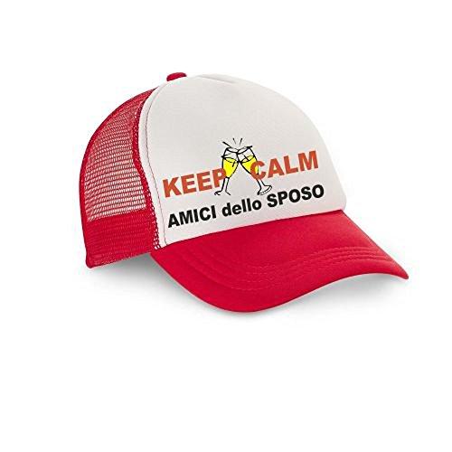 pazza idea - Gorra de béisbol - para hombre Rojo rojo Talla única