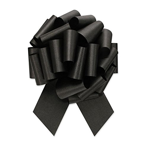 - Berwick Offray Ribbon Pull Bow, 5.5'' Diameter with 20 Loops, Black