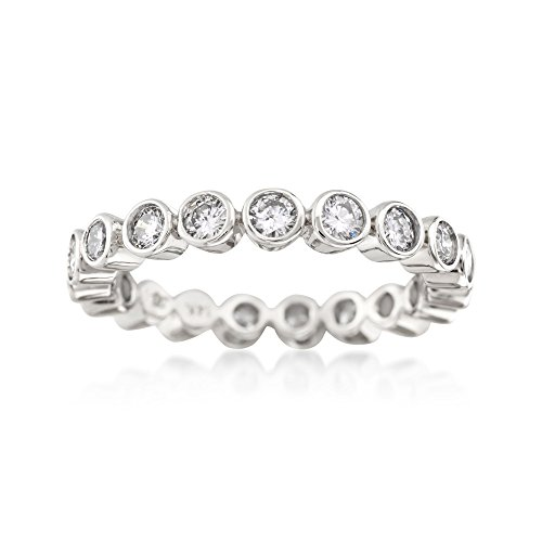 Ross-Simons 1.00 ct. t.w. Bezel-Set Diamond Eternity Band in 14kt White ()