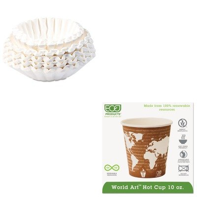 KITBUN1M5002ECOEPBHC10WA - Value Kit - ECO-PRODUCTS,INC. World Art Hot Drink Cups (ECOEPBHC10WA) and Bunn Coffee Commercial Coffee Filters (BUN1M5002) by Eco-Products, Inc