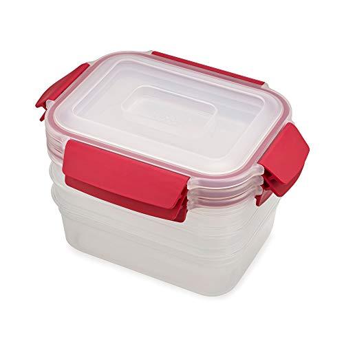 Joseph Joseph Nest Lock 3-Piece Storage Container Set (3 x 1.1L) - Red