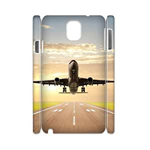 Airplane Takeoff Design Unique Customized 3D Hard Case Cover for Samsung Galaxy Note 3 N9000, Airplane Takeoff Galaxy Note 3 N9000 3D Cover Case