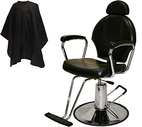 LCL Beauty Black Hydraulic Salon & Barber Styling Chair for All Purpose Use