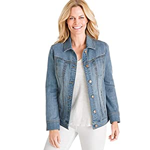 Chico's Women's Stretch Jean Jacket Denim Blue 18