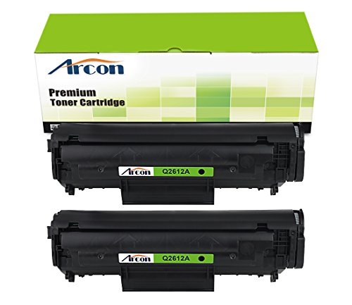 arcon-2pk-2000-pages-black-compatible-toner-cartridge-replacement-for-hp-q2612a-q2612-12a-used-for-h