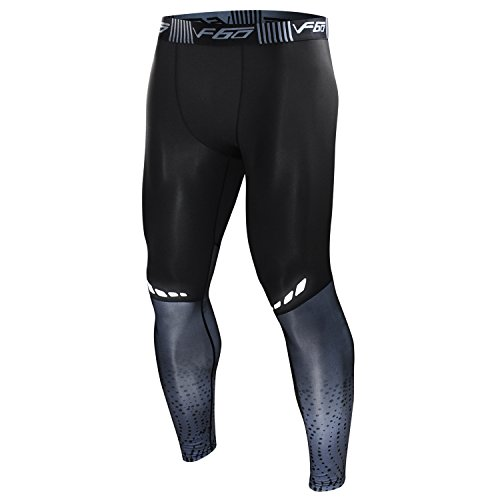 HURMES Men's Sports Compression Pants - Premium Cool Dry Tights Running Baselayer Leggings for Gym, Hiking, Basketball