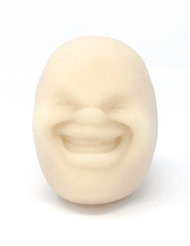 Funny Novelty Face Stress Ball for Hand Exercise Therapy Relaxation and Fidgets (Elephant Stress Ball)
