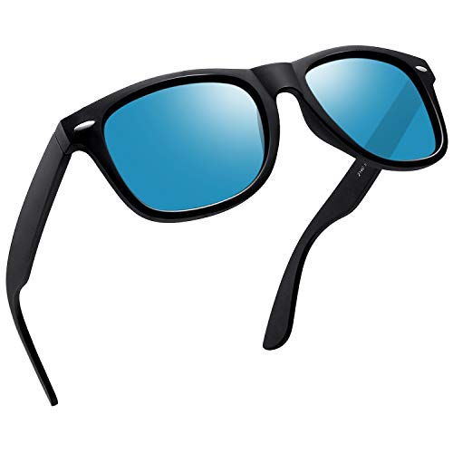 Joopin Retro Men Polarized Sunglasses Women Brand Sun Glasses Polaroid Lens With Box (Ice Blue) (Polarised Sunglasses Women For)
