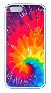 Rainbow Swirl Cover Case Skin for iPhone 5 5S Soft TPU White by lolosakes