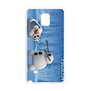 Samsung Galaxy Note 4 Cell Phone Case White Disney Frozen Character Olaf 011 YD528209